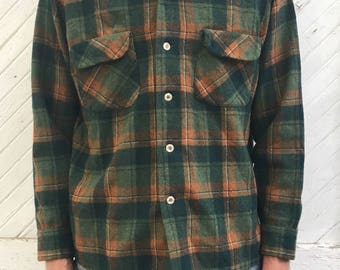 Vintage Pendleton Flannel Shirt Button Down Medium