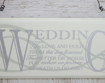 Wedding Plaque Sign To Love & Hold From This Day Forward Mr And Mrs Gift F1083