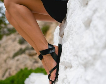 Sandals,Leather sandals,Ankle strap sandals,Greek sandals,Handmade women shoes,Summer sandals,Triskelion,PENELOPE