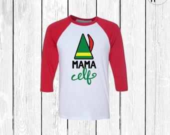 Mama Elf Shirt, Christmas Mom Shirt, Cute Christmas Shirt, Funny Christmas Shirt, Family Christmas Shirts