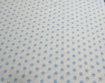 Ice Snow-Blue Snowflakes Cotton Fabric from Timeless Treasures