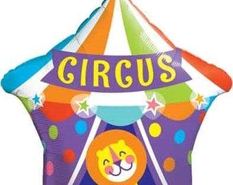 "Big Top Circus Balloon- Large 36"" Balloon- Circus Birthday Party"