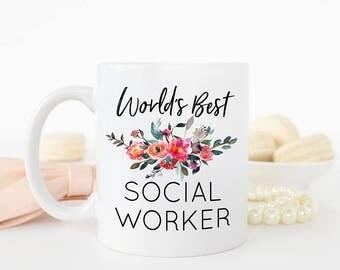 World's Best Social Worker Mug, Social Worker Mug, Social Worker Gift, Social Work,Profession, Occupation Mug, Coworker Gift, Custom Gift