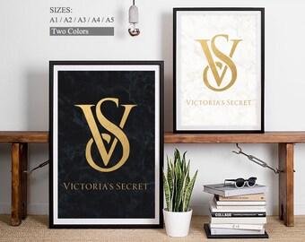 Victoria Secret Logo - Victorias Secret Print Art Victoria Logo Fashion Show Victoria Secret Poster Victoria Secret Sign Victoriasecrets