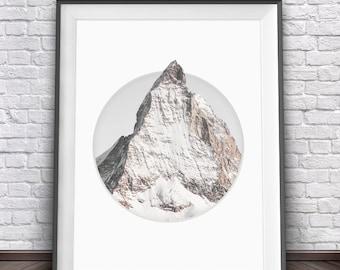 Mountain Art • Mountain Print Snow Mountain Nature Photography Rock Climbing Print Art Climbing Posters Mountain Printable Mountain Decor