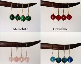 Natural stone stitch markers