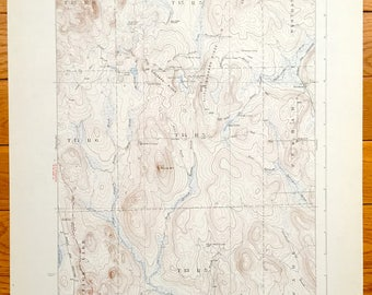 Antique Portage, Maine 1931 US Geological Survey Topographic Map – Westmanland, Perham, Wade, Hanford, Portage Lake, Aroostook County