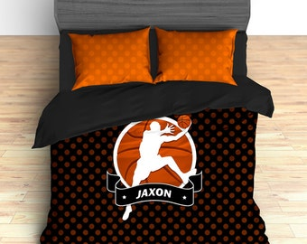 Basketball Bedding, Basketball Theme Room, Custom Bedding, Personalized Bedding, Basketball Duvet, Basketball Comforter, King, Twin, Queen