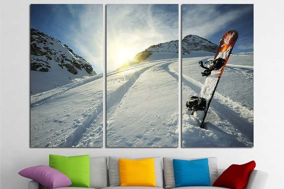 Snowboard canvas art snowboard photo snowboard wall art for Snowboard decor