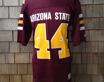 Vintage 80s ARIZONA STATE Sun Devils Authentic Football Jersey #44 by Champion - Small - University