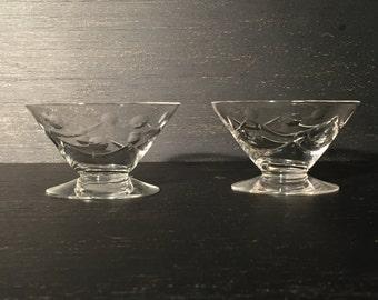 Vintage Clear Glass Sherbet Bowl / Dessert Bowl / Ice Cream Bowl