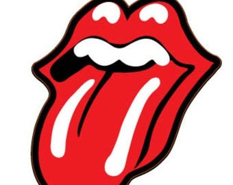 Rolling Stones Tongue Decal | 4-Inches By 3-Inches | Premium Quality Vinyl Decal