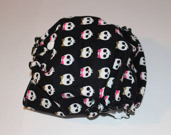 Cloth Diaper Cover with Skull and Bows / Punk Rock Diaper / Baby Cloth Diaper / Cloth Diaper with Bows / Baby Shower Gift / Edgy