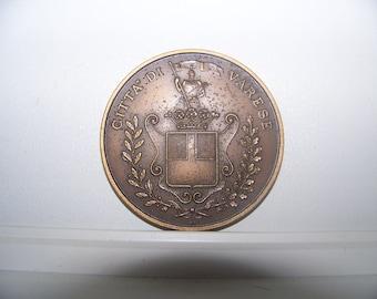 Italy Bronze Medal - Citta di varese engraver S.I. - Bronze Medal Italy - Citta di varese engraver S.I.