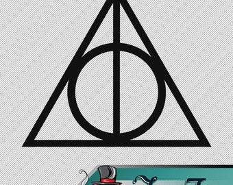 Vinyl Decal- Harry Potter Deathly Hallows Symbol