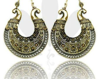 Krishna brass earrings