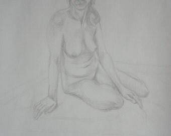 Silverpoint drawing - Jennifer