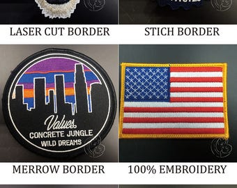 cheap Custom embroidered patches  no minimum, iron on embroidered patches