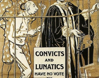 Vintage British Suffragette Movement  Poster A3 Print