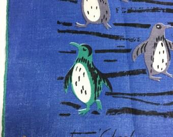Tammis Keefe penguin hankie 1950's Original tag, Unused!