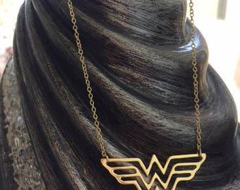 Wonder Woman necklace, wonder woman, wonder woman diana, wonder woman jewelry, wonder woman gift, gold wonder woman, diana prince necklace