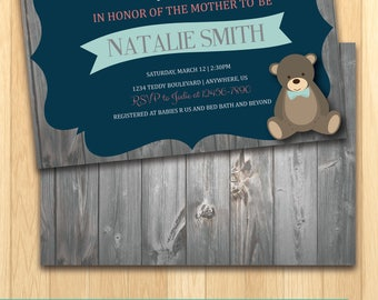 Baby Shower Invitation - PRINT ON OWN