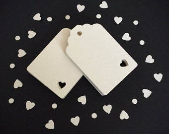 20 Mini Heart Tags