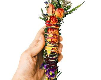 Cedar Smudge Stick / Rose Cedar Bouquet / Juniper Smudge / Protection Smudge / Witch Cedar Wand / Smudge Sticks / Crystal Clearing