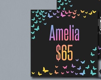 Album Covers Butterfly Black F.B, 5x5 inches 300DPI, Modern  Colors and fonts Digital Files Album Covers Style Cards Price Card