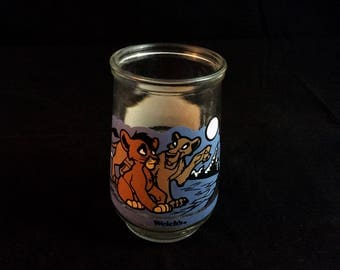 Lion King 2 Welchs Jelly jar cup #3 Simbas Pride - 90s vintage glass cup