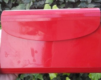 Vintage Plastic Purse Red