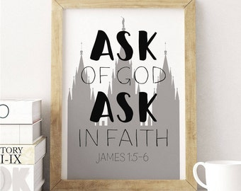 LDS 2017 Theme, Ask in Faith, Women 2017 Theme, Young Women, Ask of God, 2017 Young Women, New Beginnings, 2017 Theme