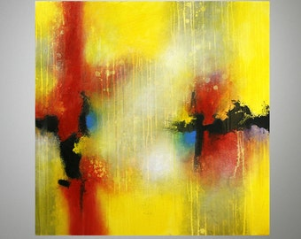 "Abstract Painting, Original, Acrylic on Wooden Frame 32""x32""x1,5"" (80x80x3,7cm) ""Abstract 132"", Abstract Art"