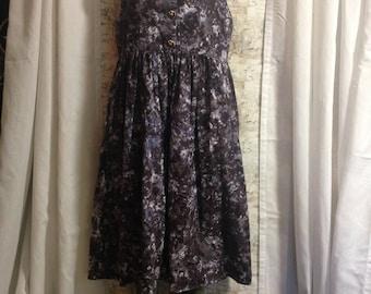 Cotton dress,cotton smock, handmade sleeveless dress, batik dress