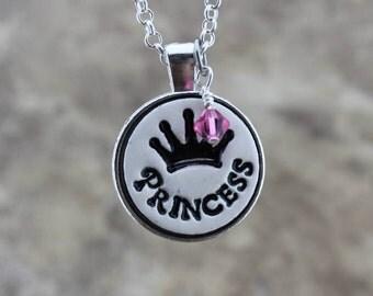 Princess Handmade Pottery Necklace