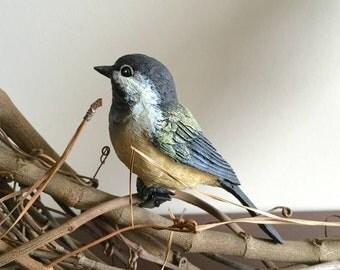 2Pk Chickadees, Clip On Bird Decorations, Wreath Decoration, Bird Cage Decoration, Birdhouse decoration