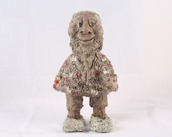 Sir Freeman. Dwarf. Yes. White. Mocha. Beige. Sculpture. Papier – Mache. Yeah