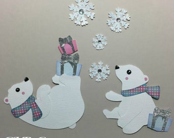 Wintery Polar Bears