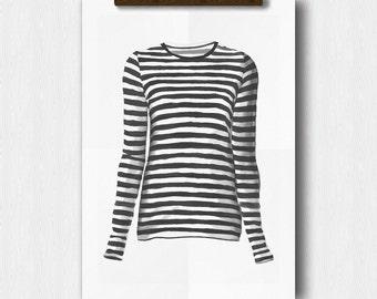 Gifts for her, fashionista Girl Art Print, girl bedroom, teen girl gift, girl dorm art, diy printable, Instant Download, girl print art