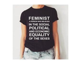 Feminist shirt, women's rights shirt, feminism shirt, protest shirt, feminist t-shirt, feminist t shirt, feminist definition, feminist af