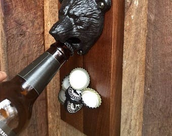 Bear Wall Mounted Bottle Opener. Magnetic Bottle Opener. Bear Bottle Opener. Beer Bottle Opener, Wall Bottle Opener, Wedding Gift