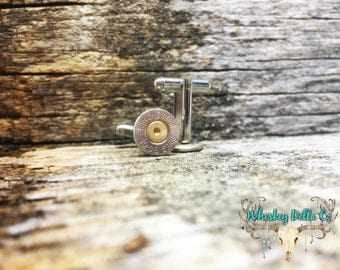 30-06 Cufflinks - Bullet Cufflink - Country Groomsmen Gifts - Bachelor Party Favor - Nickel Winchester Ammo - Fathers Day Gifts - Mens Gifts
