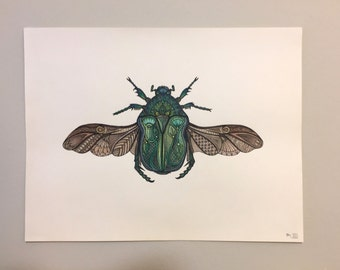 Egyptian Scarab Painting