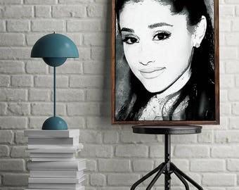 Ariana Grande Poster Ariana Grande Art Ariana Grande Print Ariana Grande Decor Ariana Grande Printable Ariana Grande Digital Download Art