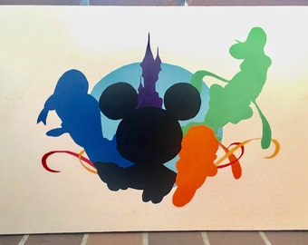 Magical Friendship, Disney Inspired Canvas Painting