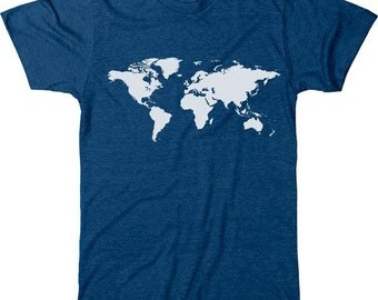 World Map Men's Tri-blend T-Shirt