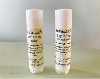 Beeswax Lip Balm - Two Tubes!!!