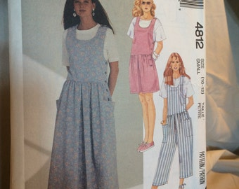 McCall's Sewing Pattern 4812, Vintage Hipster Pocket Dress or Romper