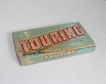 """Vintage Parker Brother's """"Touring"""" Automobile Card Game"""