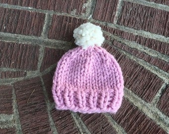 Infant Snowball Knit Hat